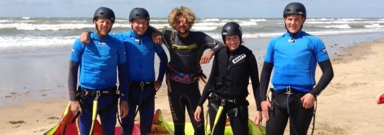 Team van Kitesurfschool 4wind