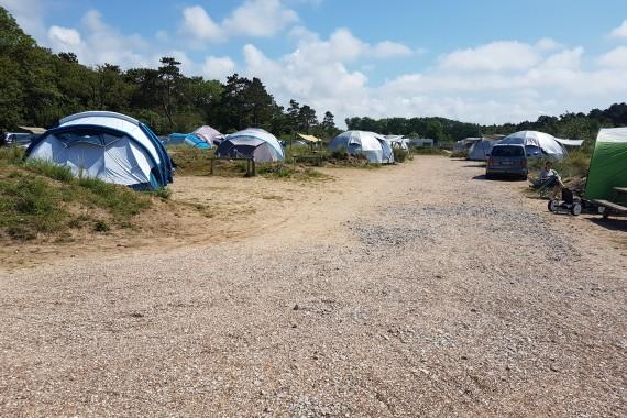 Tentplaatsen commissarisveld overzicht